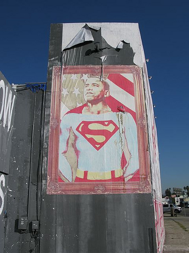 obama superman, mr brainwash