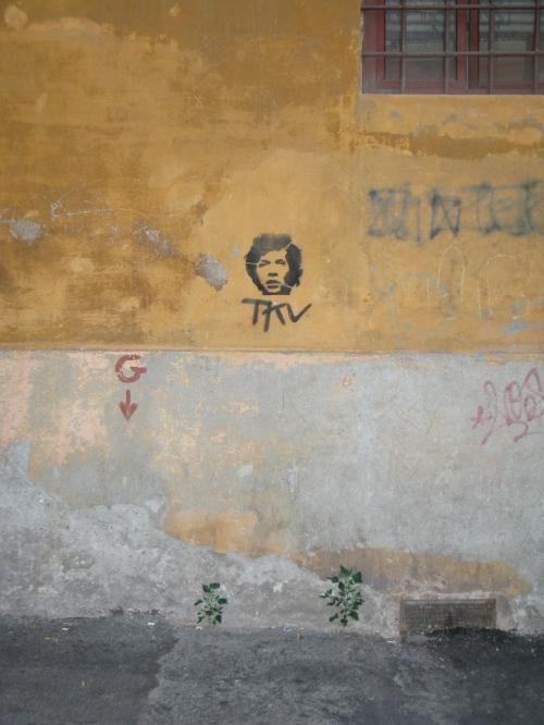 Mick Jagger Stencil, Rome