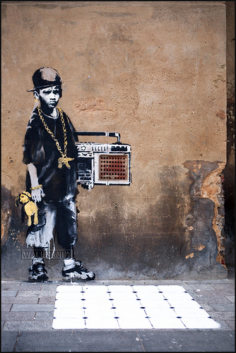 banksy - dalston b-boy
