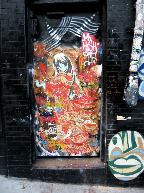 hush, doorway outside veiled beauty show @ fifty24 gallery